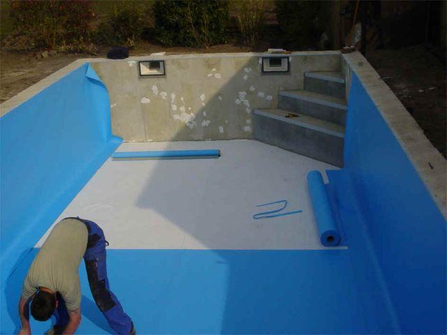 Zwembad liner lassen